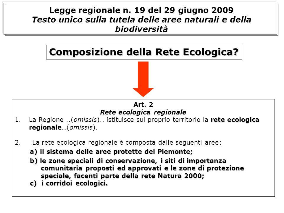 Art. 2 Rete ecologica regionale rete ecologica regionale 1.La Regione..(omissis).. istituisce sul proprio territorio la rete ecologica regionale…(omis