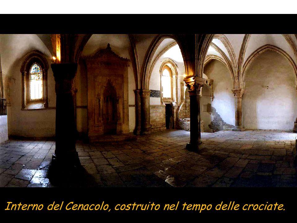 Interno del Cenacolo, costruito nel tempo delle crociate.