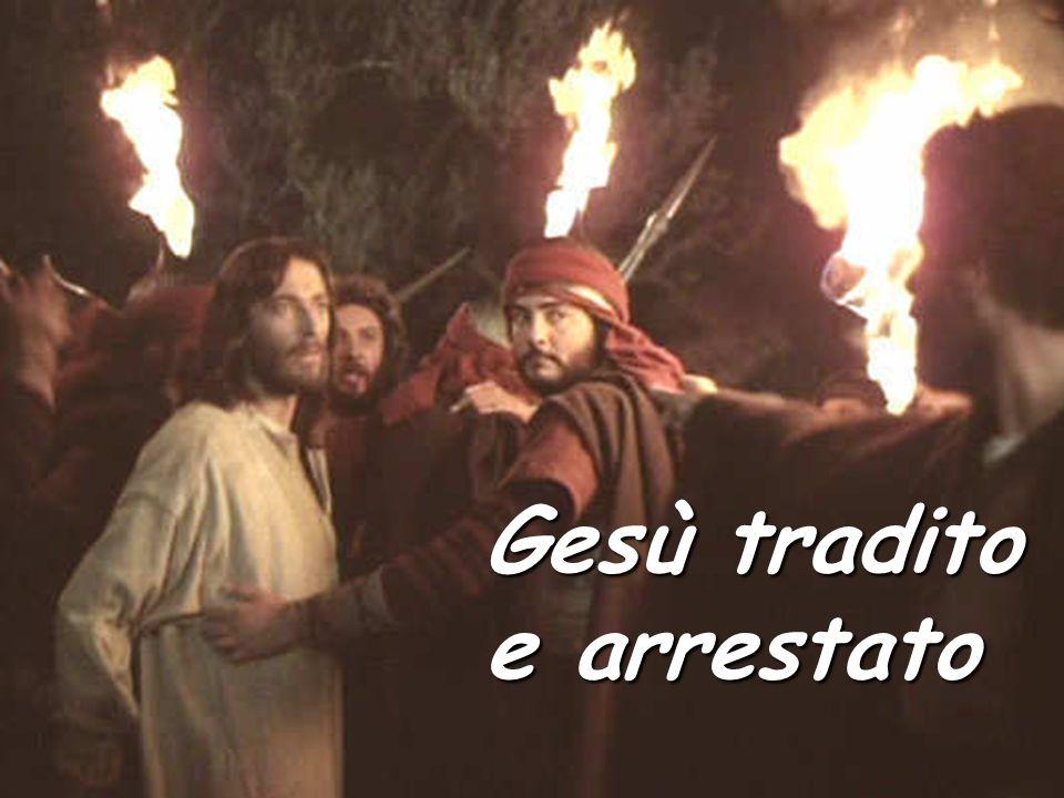 Gesù tradito e arrestato