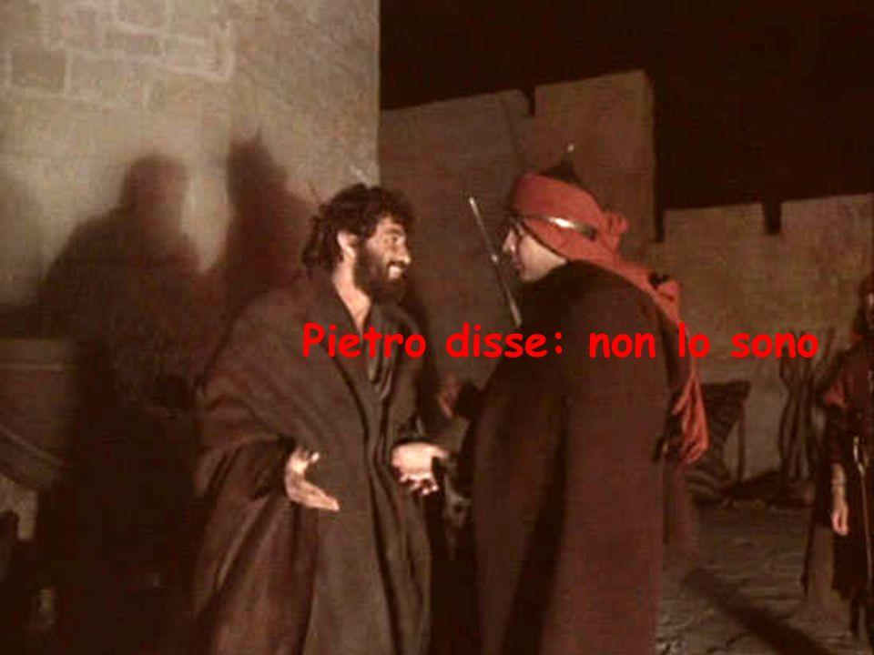 Pietro disse: non lo sono
