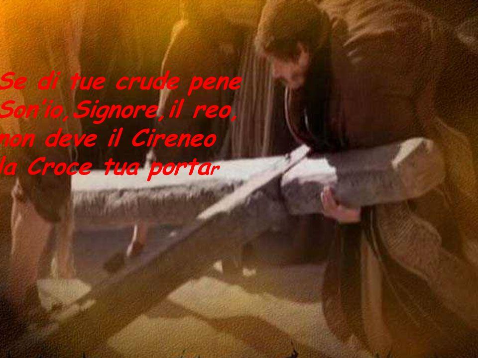 Se di tue crude pene Sonio,Signore,il reo, non deve il Cireneo la Croce tua porta r