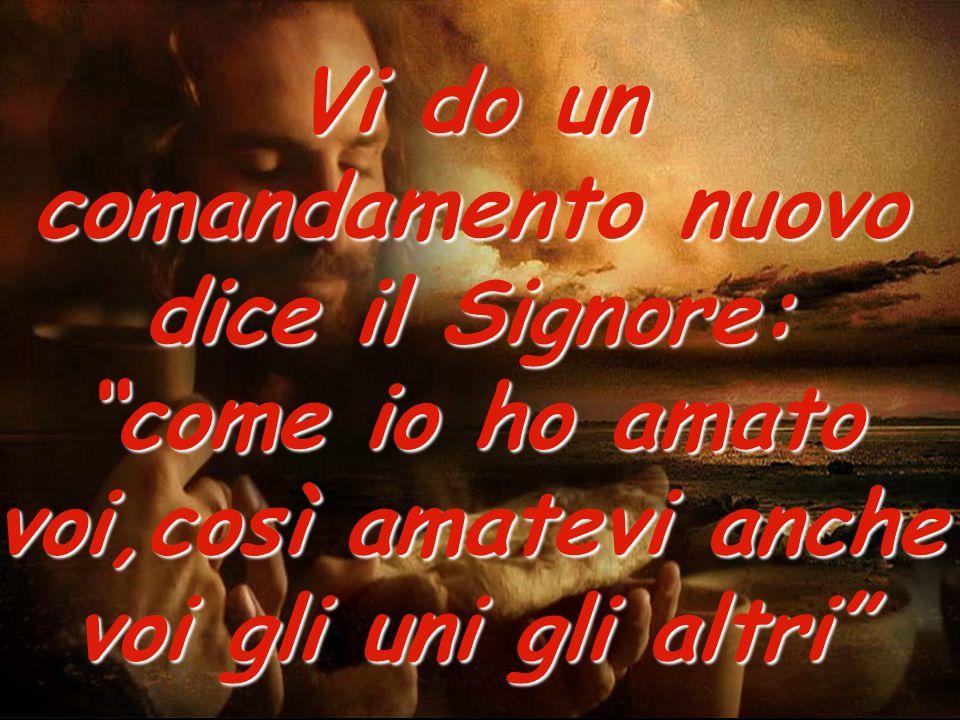 Vi do un comandamento nuovo dice il Signore: come io ho amato voi,così amatevi anche voi gli uni gli altri