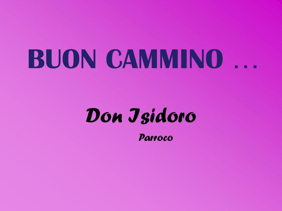 BUON CAMMINO …. Don Isidoro Parroco