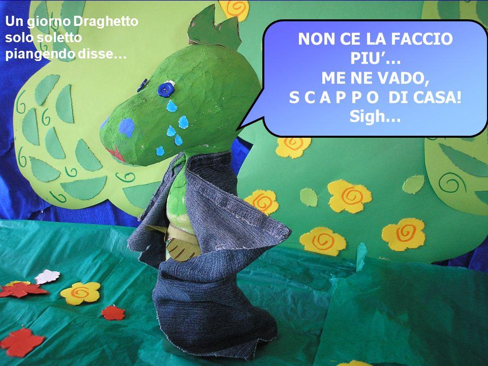 NON CE LA FACCIO PIU… ME NE VADO, S C A P P O DI CASA! Sigh… Un giorno Draghetto solo soletto piangendo disse…