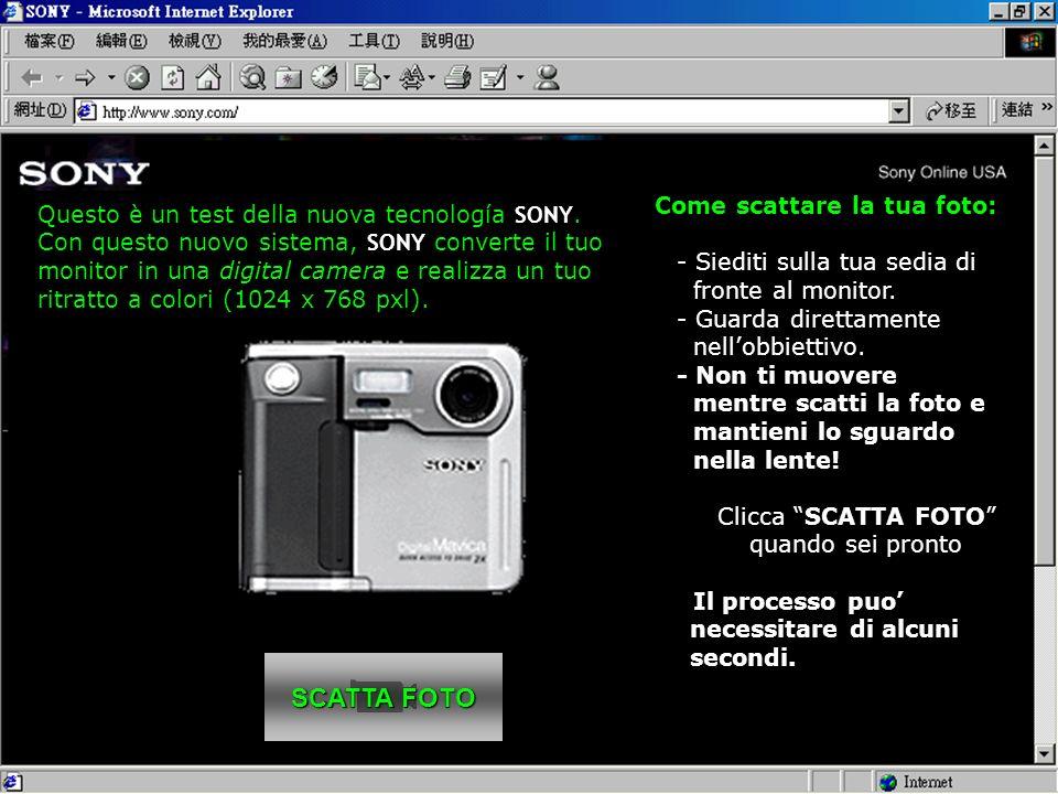 SCATTA FOTO SCATTA FOTO Come scattare la tua foto: - Siediti sulla tua sedia di fronte al monitor.