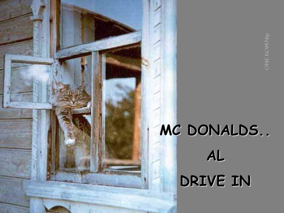 MC DONALDS.. AL DRIVE IN ONE ROM Nip