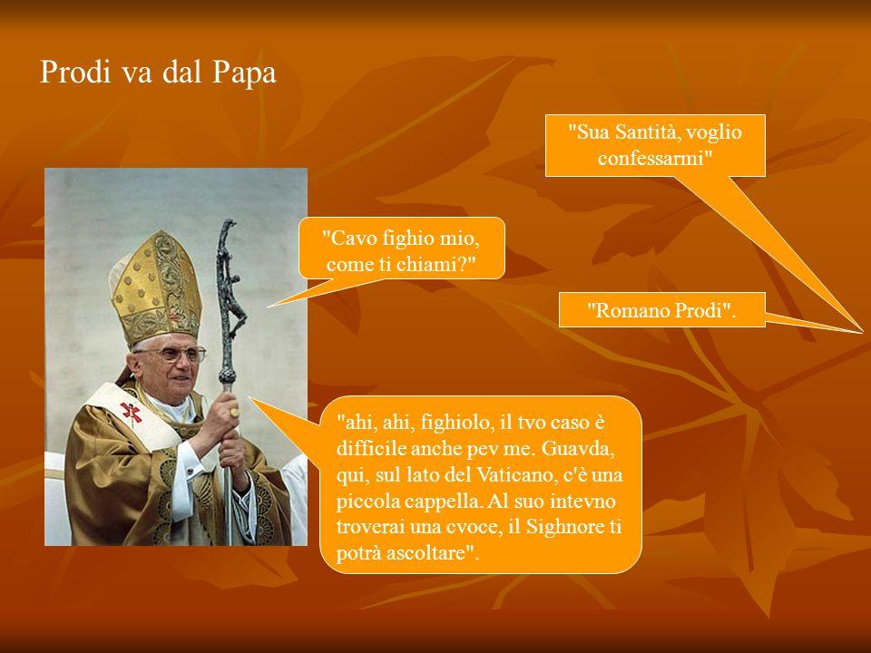 Prodi va dal Papa