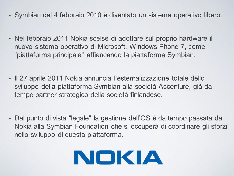 Symbian dal 4 febbraio 2010 è diventato un sistema operativo libero. Nel febbraio 2011 Nokia scelse di adottare sul proprio hardware il nuovo sistema