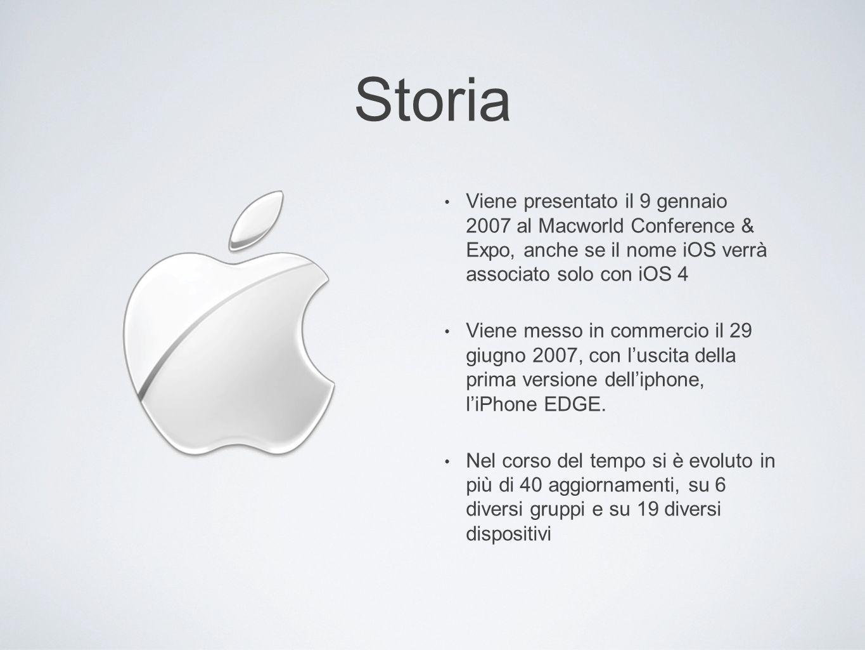 Storia Viene presentato il 9 gennaio 2007 al Macworld Conference & Expo, anche se il nome iOS verrà associato solo con iOS 4 Viene messo in commercio