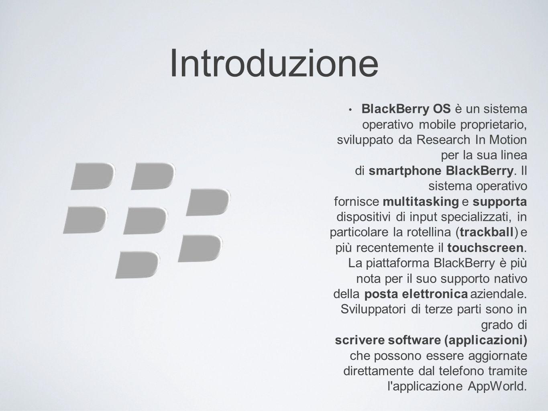 BlackBerry OS è un sistema operativo mobile proprietario, sviluppato da Research In Motion per la sua linea di smartphone BlackBerry. Il sistema opera