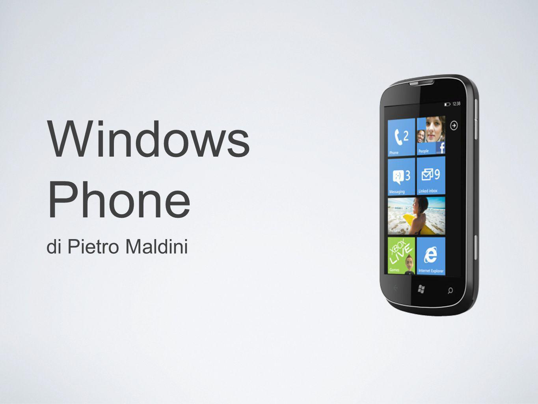 Storia Inizialmente Windows phone è il termine nato agli inizi del 2009 per definire lo smartphone basato su Windows mobile 6.5 il termine andrà poi a indicare il nuovo SO mobile Microsoft Viene creato a partire dal desiderio di un SO che potesse competere con liphone e la crescente ascesa di android.