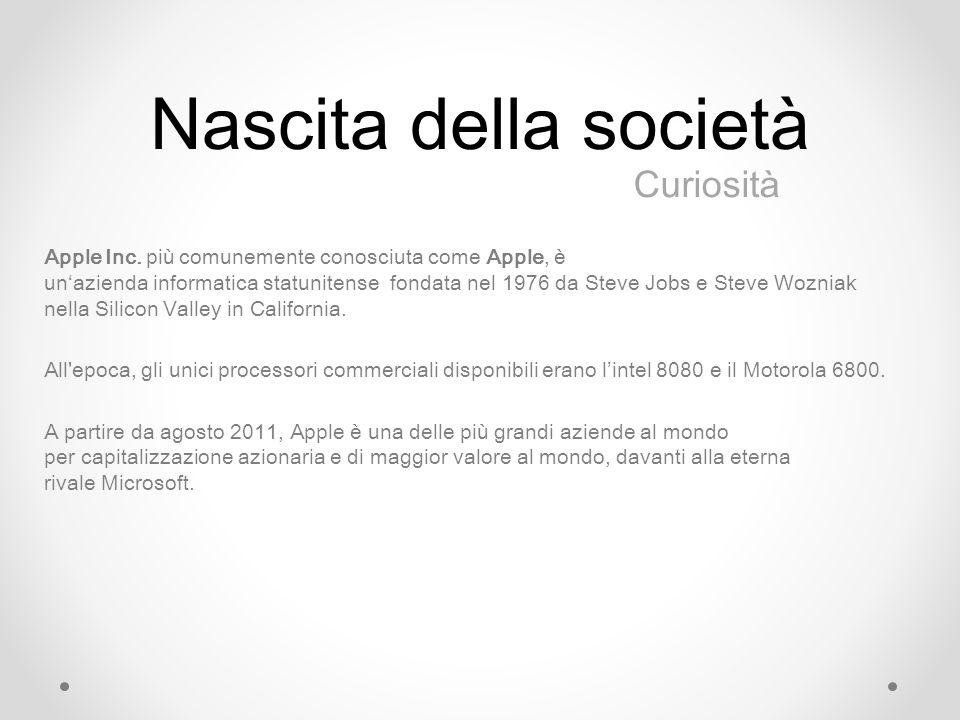 Nascita della società Apple Inc.