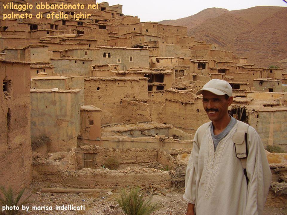 villaggio abbandonato nel palmeto di afella-ighir