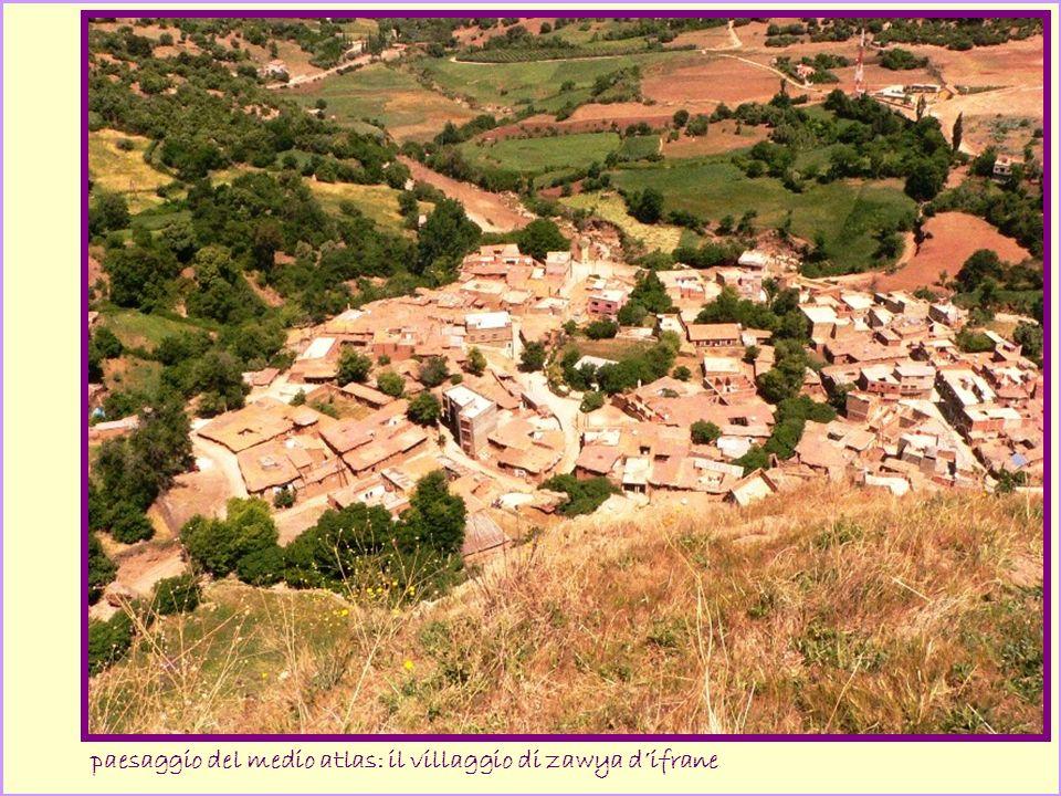 paesaggio del medio atlas: il villaggio di zawya difrane