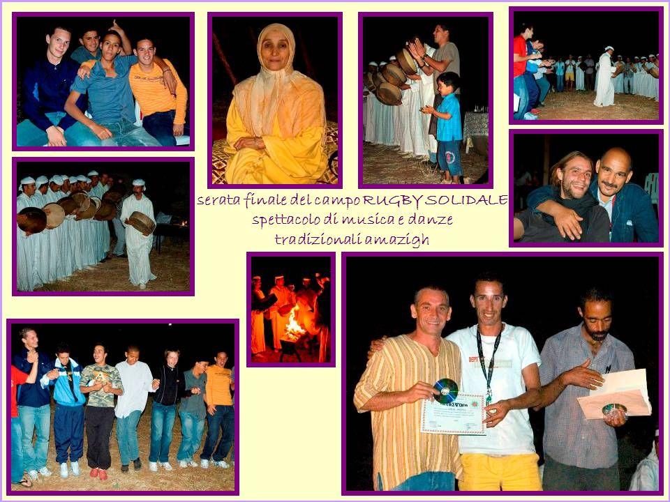 serata finale del campo RUGBY SOLIDALE spettacolo di musica e danze tradizionali amazigh