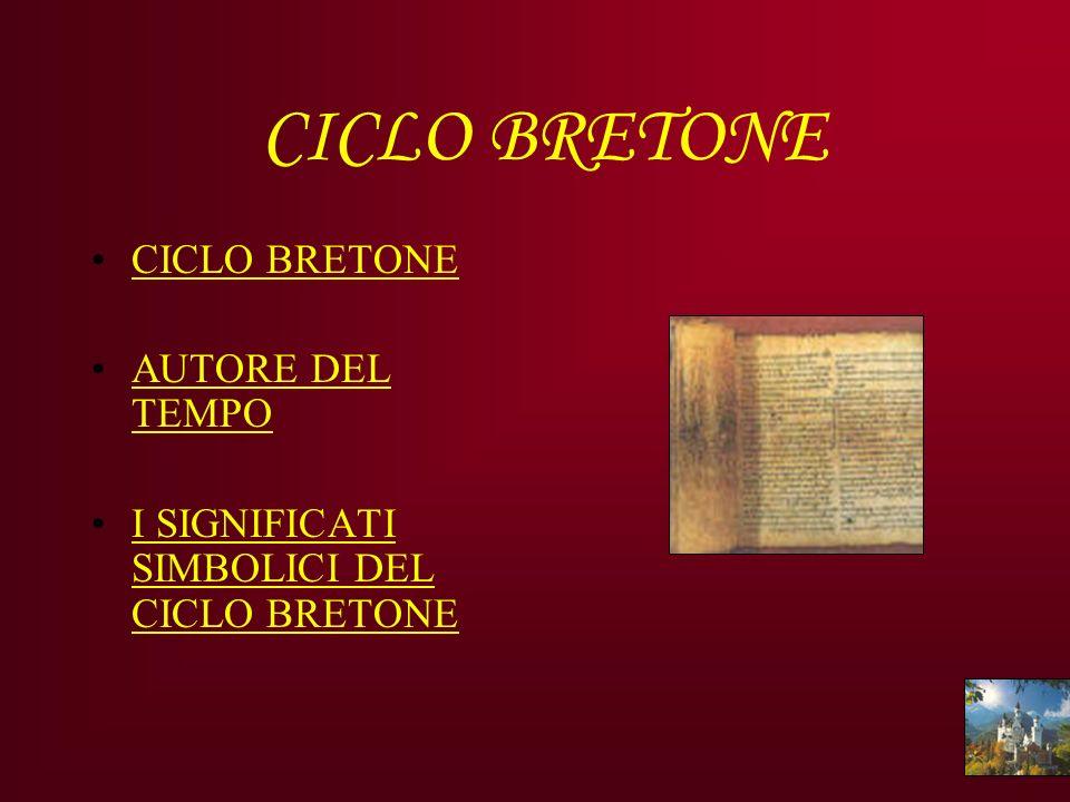 CICLO BRETONE CICLO BRETONE AUTORE DEL TEMPO I SIGNIFICATI SIMBOLICI DEL CICLO BRETONE