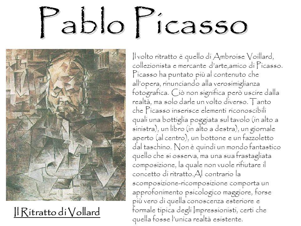 Il volto ritratto è quello di Ambroise Voillard, collezionista e mercante darte,amico di Picasso. Picasso ha puntato più al contenuto che allopera, ri