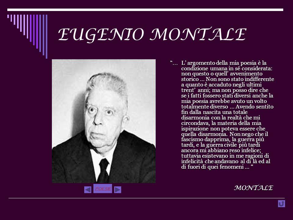 EUGENIO MONTALE...