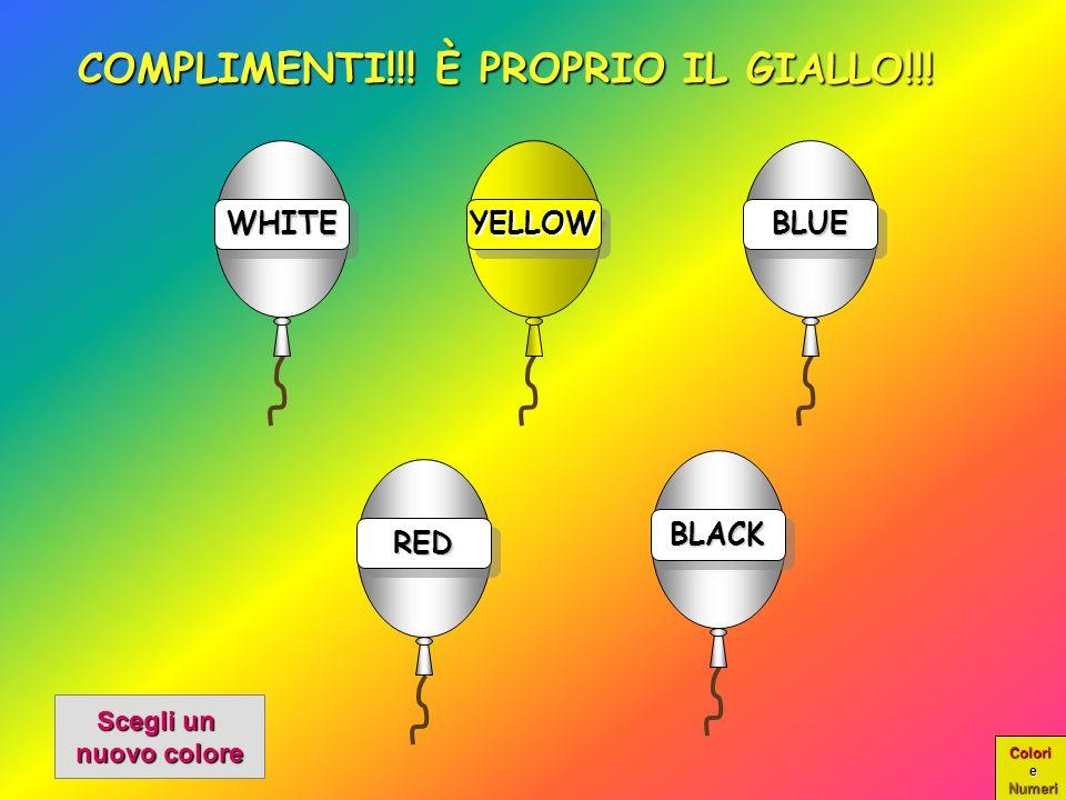 Colori e Numeri WHITEWHITE COMPLIMENTI!!.È PROPRIO IL GIALLO!!.