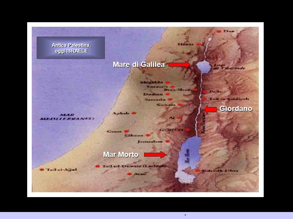 Mare di Galilea Mar Morto Antica Palestina, oggi ISRAELE Giordano.