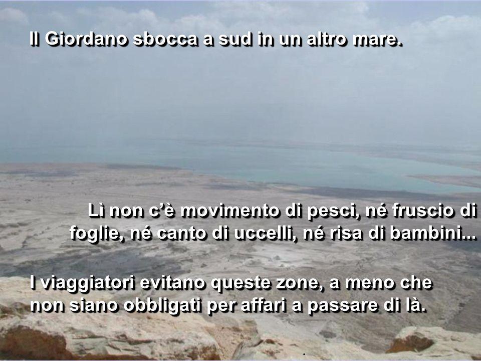 Il Giordano sbocca a sud in un altro mare.
