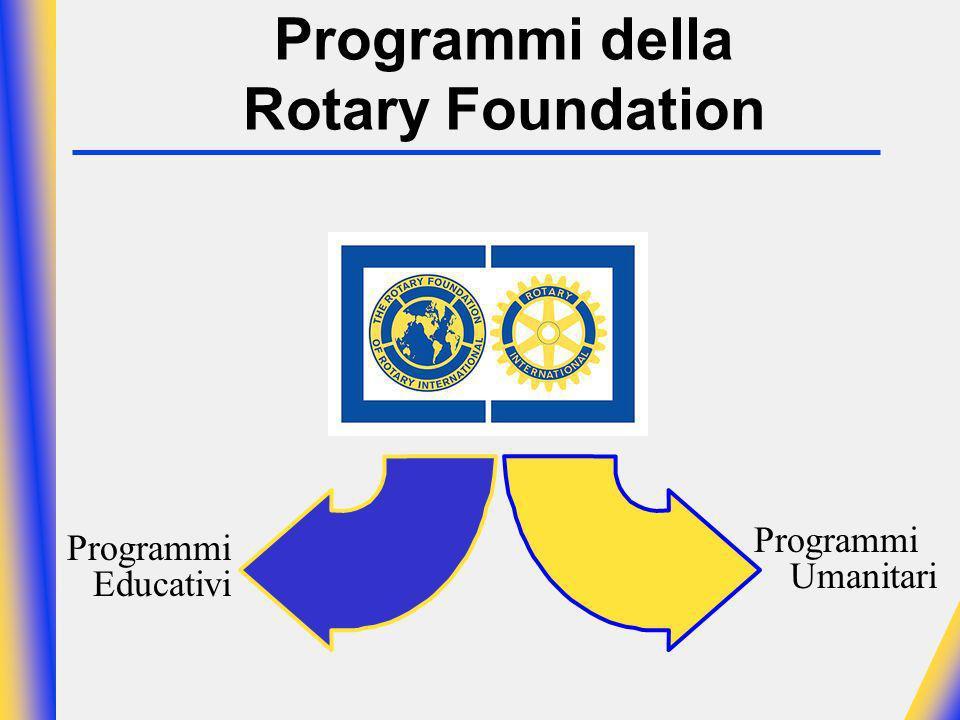 Programmi della Rotary Foundation Programmi Educativi Programmi Umanitari