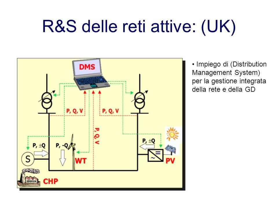R&S delle reti attive: (UK) Impiego di (Distribution Management System) per la gestione integrata della rete e della GD
