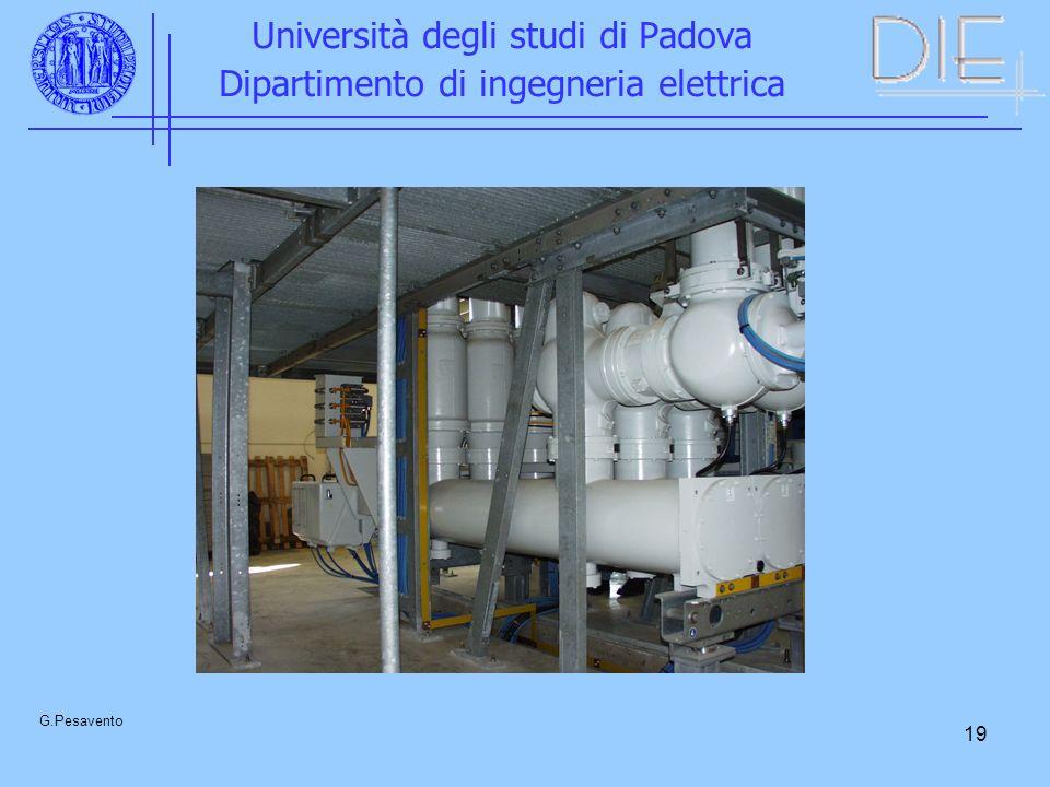 19 Università degli studi di Padova Dipartimento di ingegneria elettrica G.Pesavento