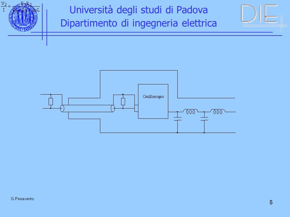 5 Università degli studi di Padova Dipartimento di ingegneria elettrica G.Pesavento