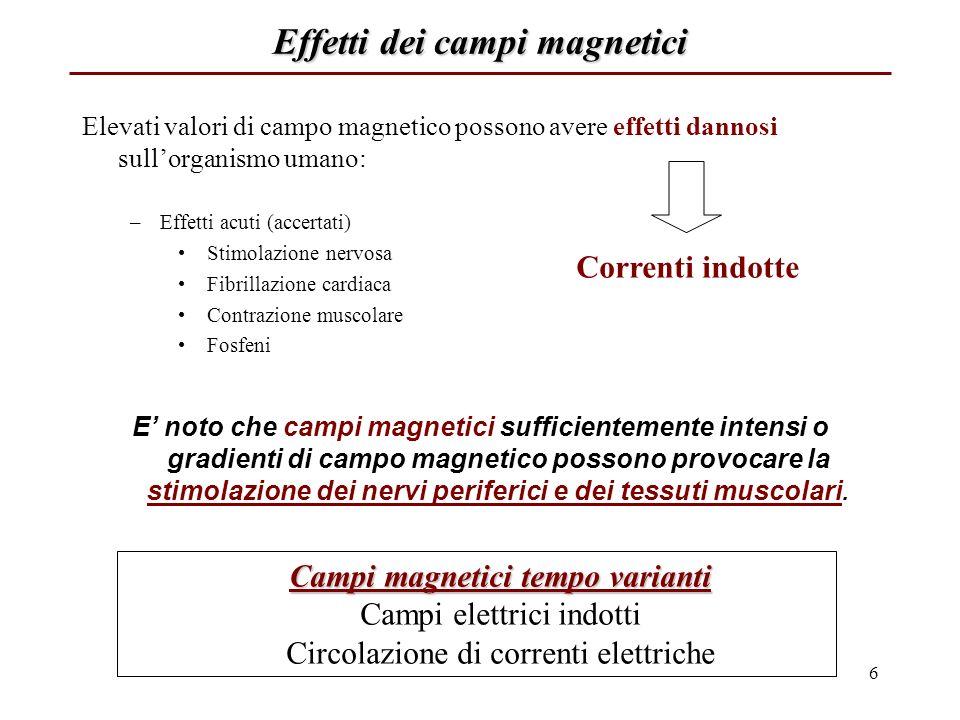 Valutare il campo magnetico luoghi in cui ha senso cercare il campo magnetico.Per fare una valutazione dellintensità di campo magnetico occorre valutare quali sono i luoghi in cui ha senso cercare il campo magnetico.