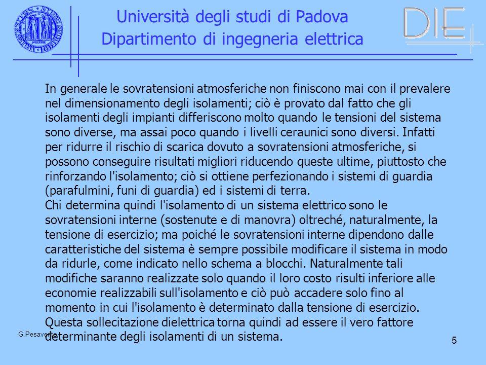 5 Università degli studi di Padova Dipartimento di ingegneria elettrica G.Pesavento In generale le sovratensioni atmosferiche non finiscono mai con il