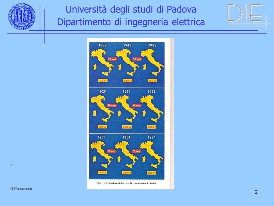 3 Università degli studi di Padova Dipartimento di ingegneria elettrica G.Pesavento Sistemi 420 kV 1000 kV in alternata Continua ???.