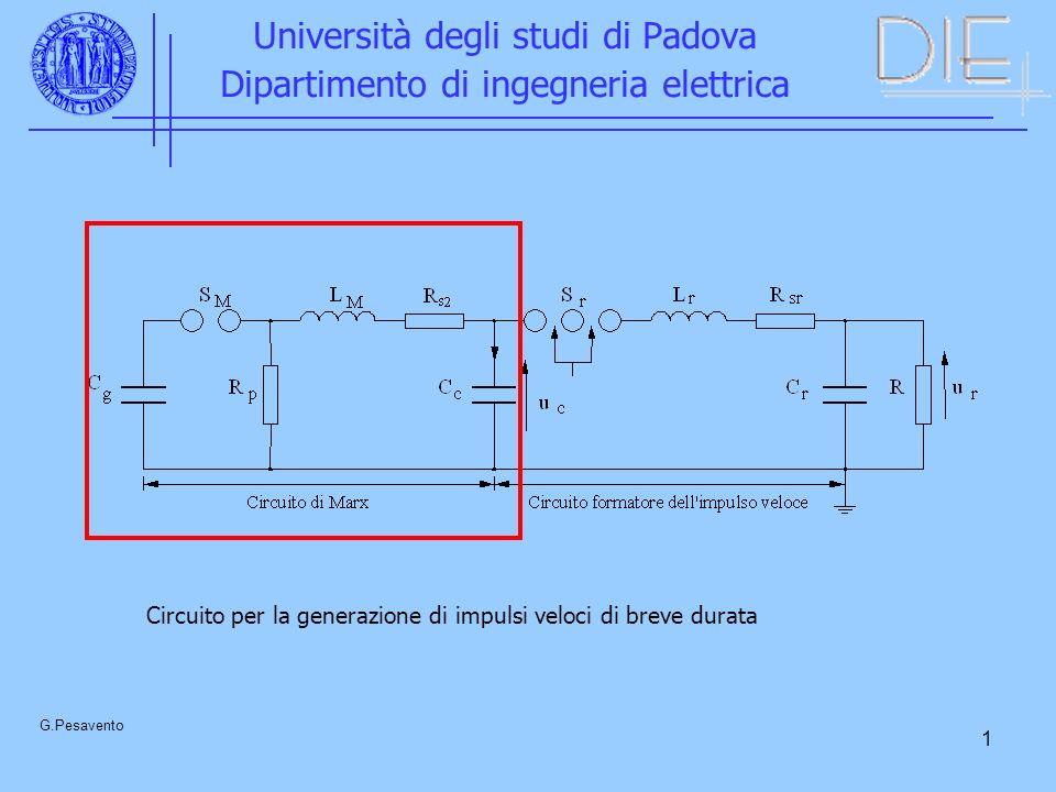 2 Università degli studi di Padova Dipartimento di ingegneria elettrica G.Pesavento
