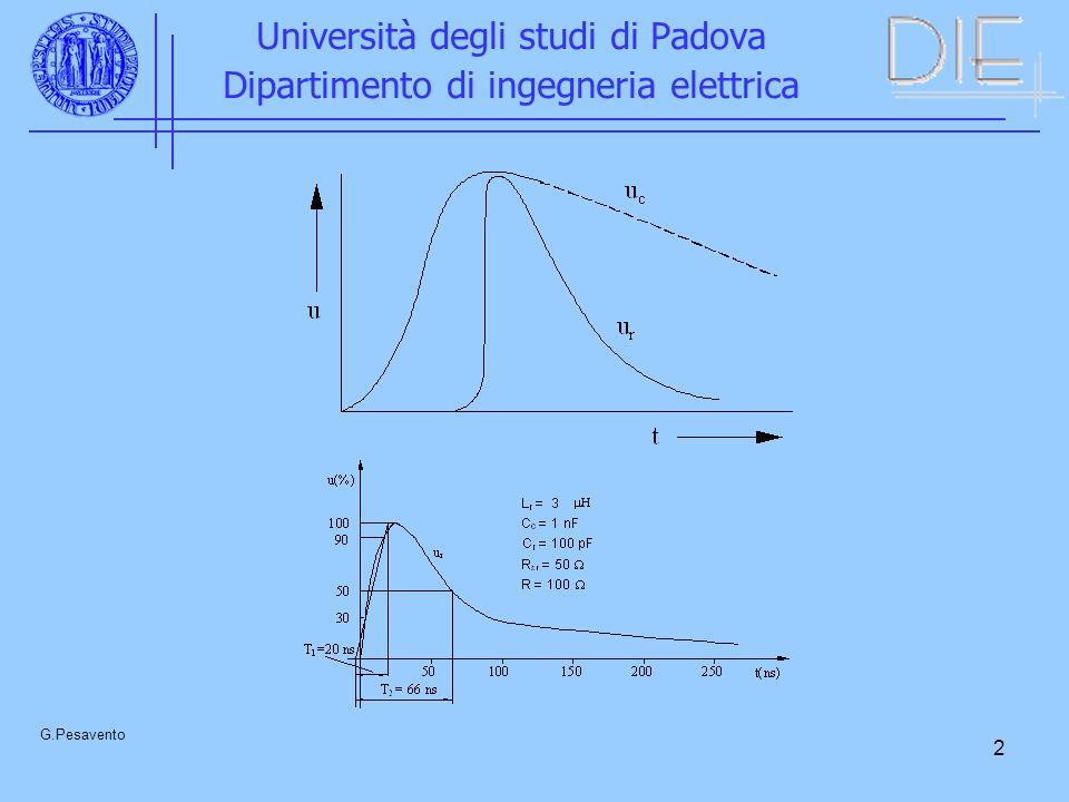 13 Università degli studi di Padova Dipartimento di ingegneria elettrica G.Pesavento Generatore di tensione continua - 2000 kV – con possibilità di inversione rapida della polarità