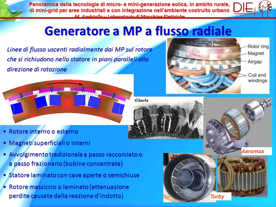 Panoramica della tecnologie di micro- e mini-generazione eolica, in ambito rurale, di mini-grid per aree industriali e con integrazione nellambiente c