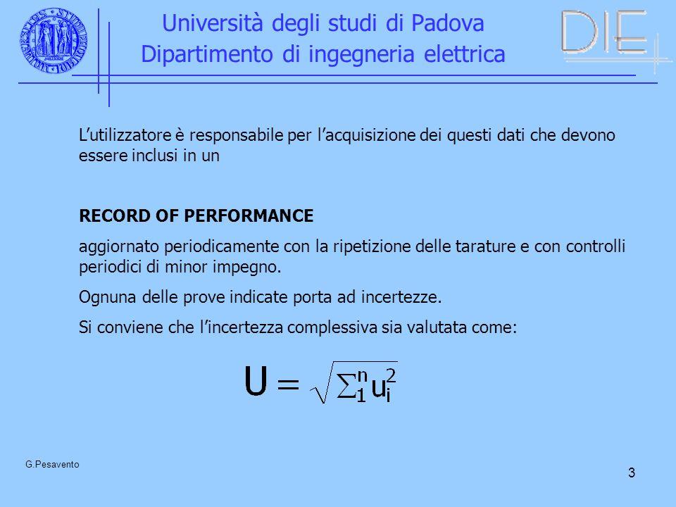 4 Università degli studi di Padova Dipartimento di ingegneria elettrica G.Pesavento LO SPINTEROMETRO A SFERE Campione di riferimento facilmente riproducibile che fornisce, almeno convenzionalmente, il valore di una alta tensione.