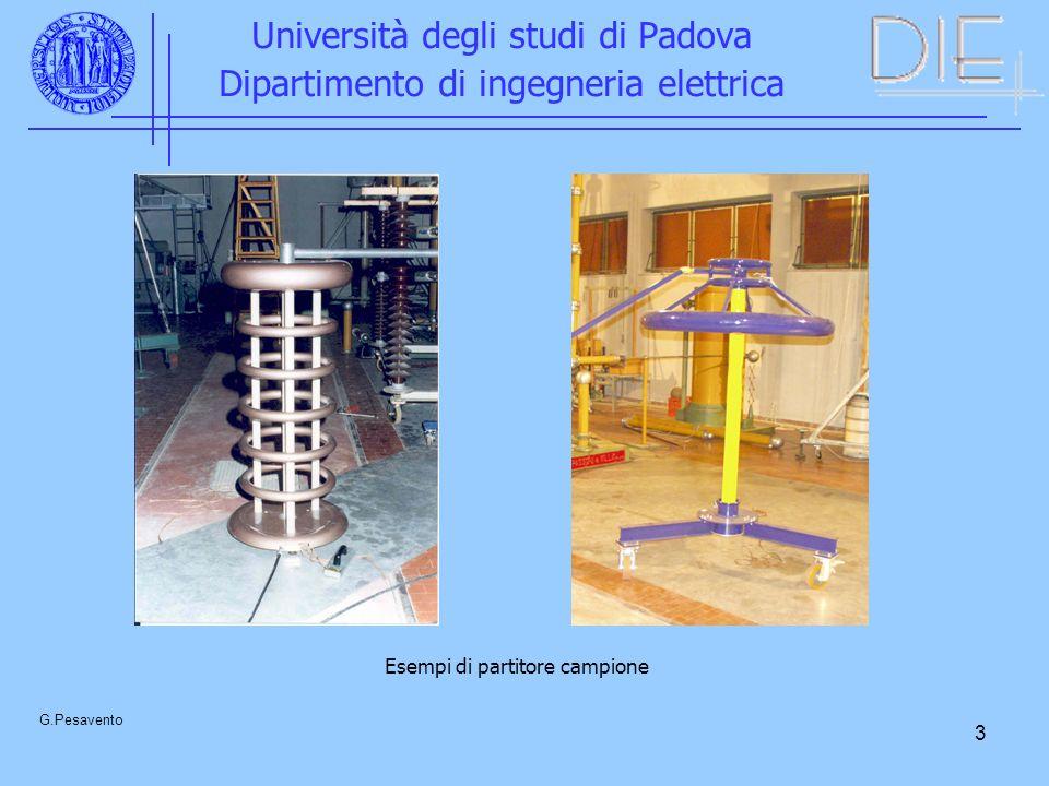 3 Università degli studi di Padova Dipartimento di ingegneria elettrica G.Pesavento Esempi di partitore campione