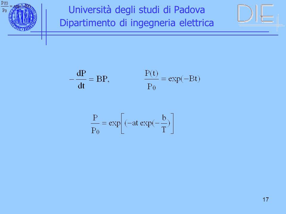 17 Università degli studi di Padova Dipartimento di ingegneria elettrica
