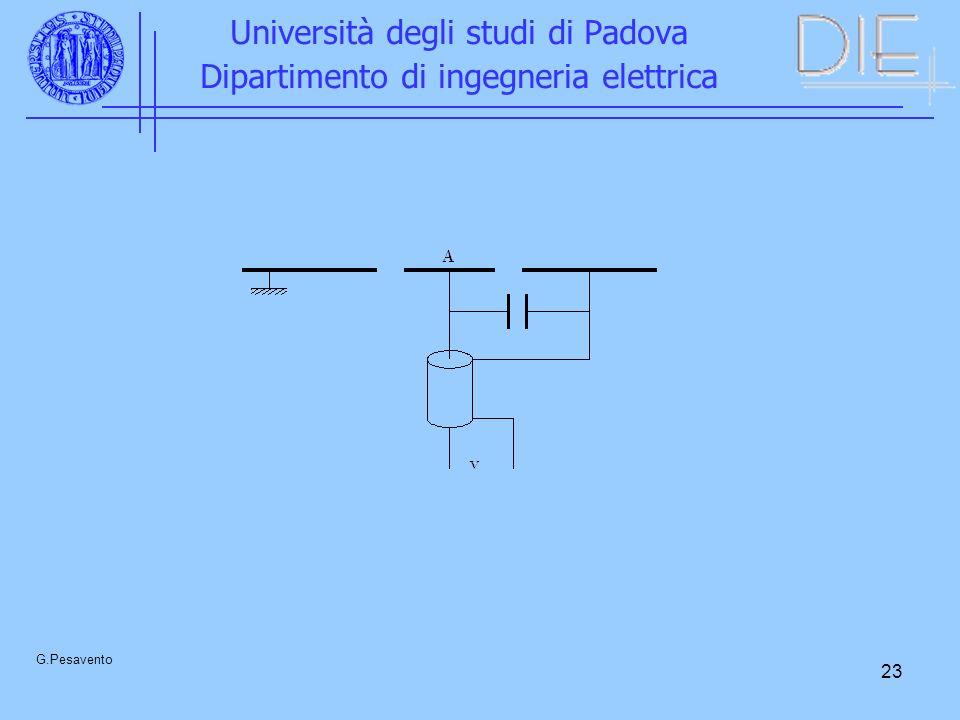 23 Università degli studi di Padova Dipartimento di ingegneria elettrica G.Pesavento