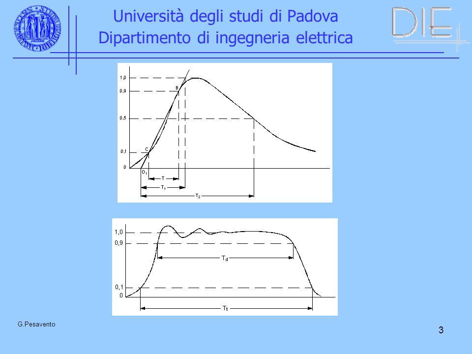 24 Università degli studi di Padova Dipartimento di ingegneria elettrica G.Pesavento