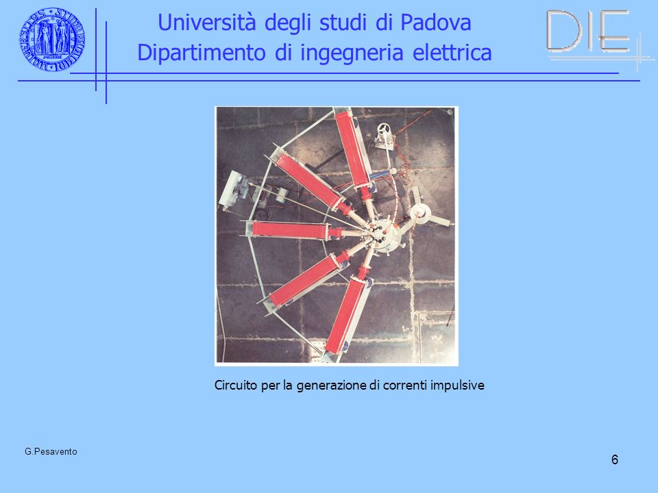 7 Università degli studi di Padova Dipartimento di ingegneria elettrica G.Pesavento Circuito per la misura di una corrente i(t)