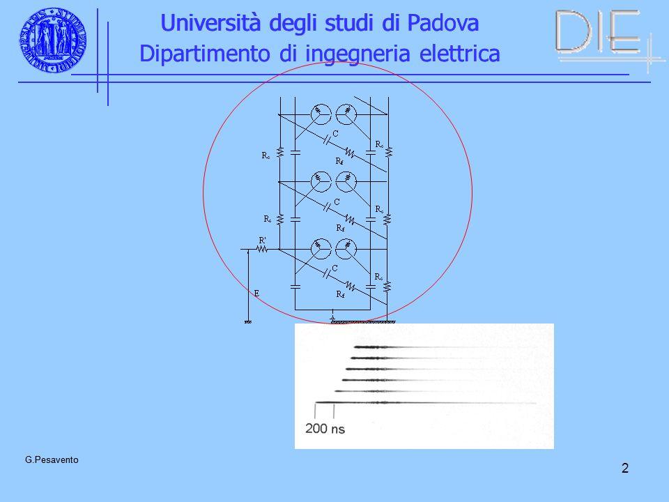2 Università degli studi di Padova Dipartimento di ingegneria elettrica G.Pesavento Università degli studi di Padova Dipartimento di ingegneria elettr