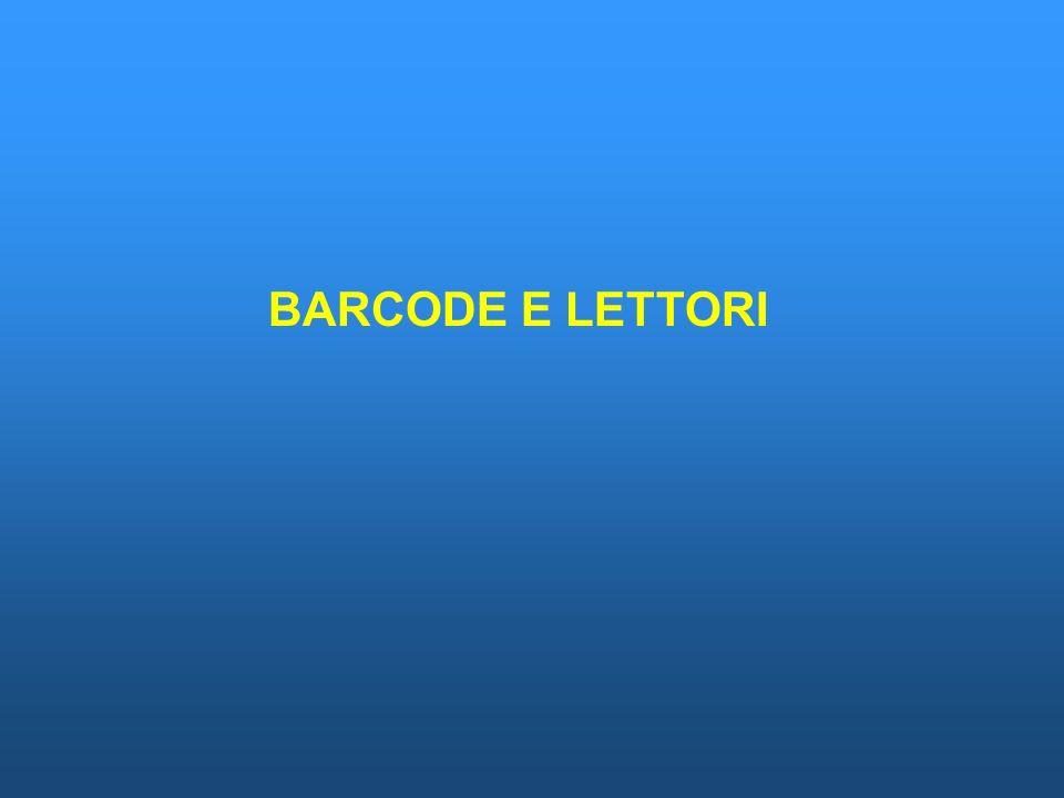 BARCODE E LETTORI