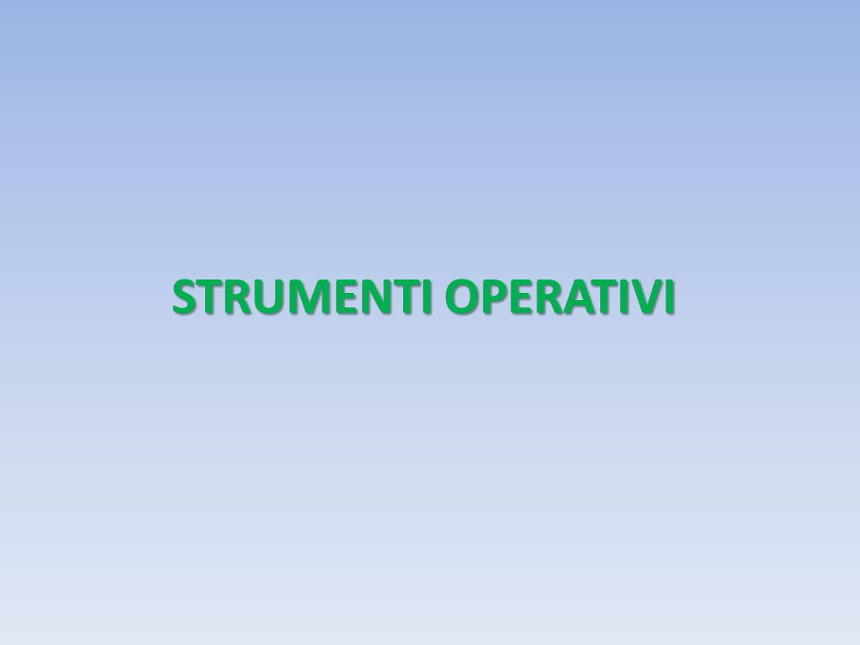 STRUMENTI OPERATIVI