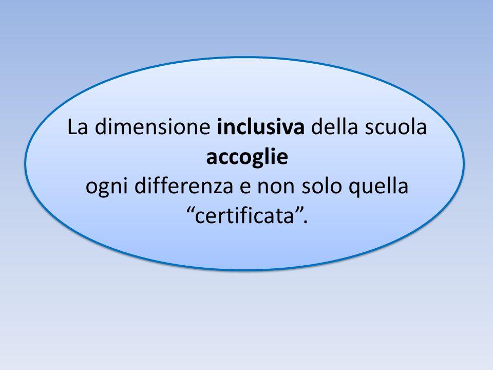 La dimensione inclusiva della scuola accoglie ogni differenza e non solo quella certificata.