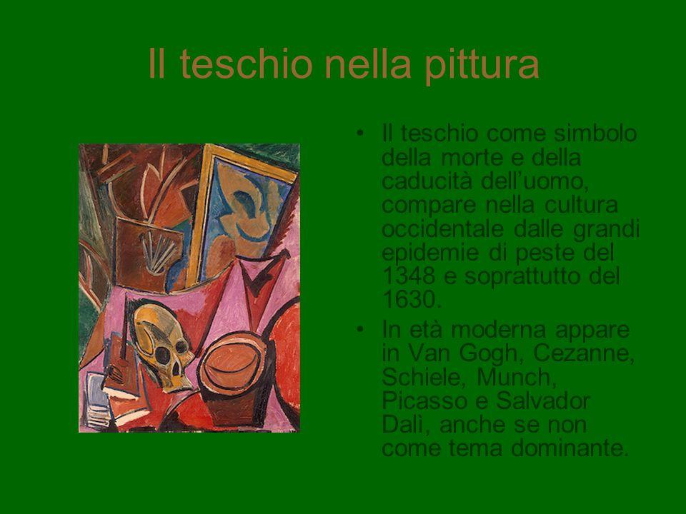 Il teschio nella pittura Il teschio come simbolo della morte e della caducità delluomo, compare nella cultura occidentale dalle grandi epidemie di pes