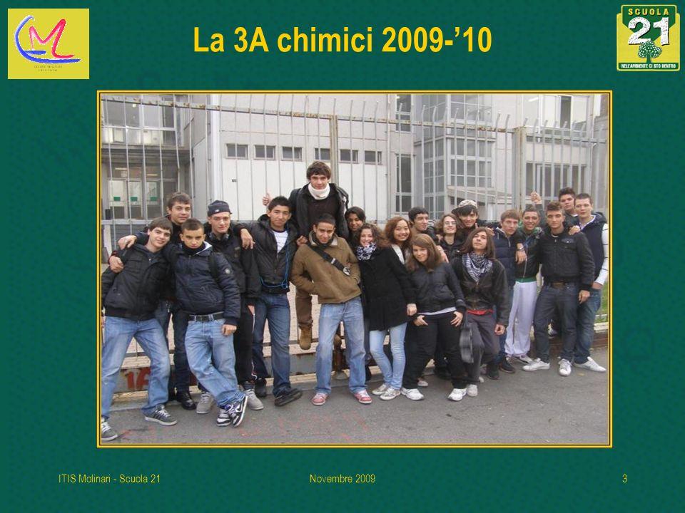 ITIS Molinari - Scuola 21Novembre 20093 La 3A chimici 2009-10