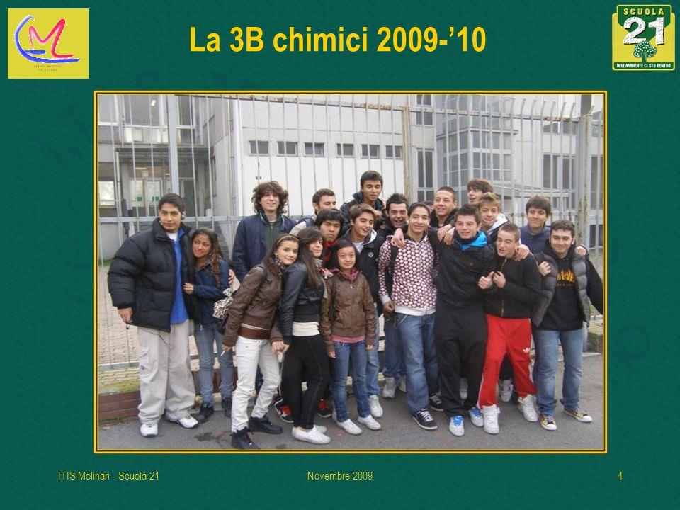 ITIS Molinari - Scuola 21Novembre 20094 La 3B chimici 2009-10