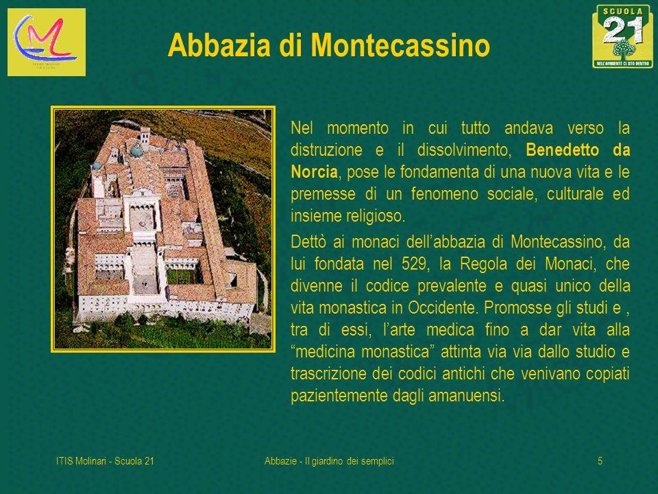 ITIS Molinari - Scuola 21Abbazie - Il giardino dei semplici26 Parrocchia di S.