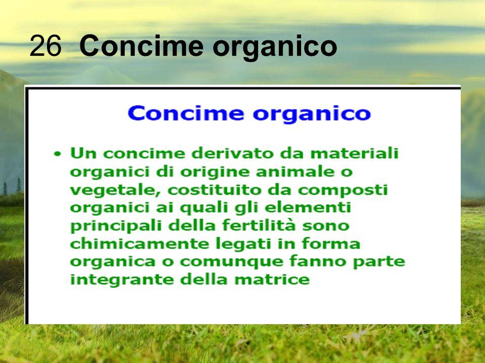 26 Concime organico